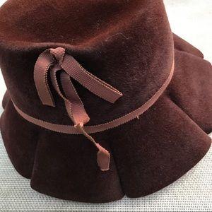 Vintage Scalloped Brim Cloche Hat by Velour Fur
